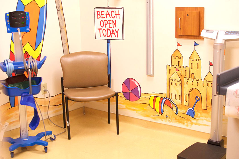 UF Health Pediatrics patient exam room.